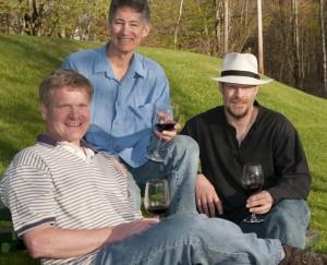 Chuck Lawrence, Ken Hardcastle, Bob Manley, Hermit Woods Winery