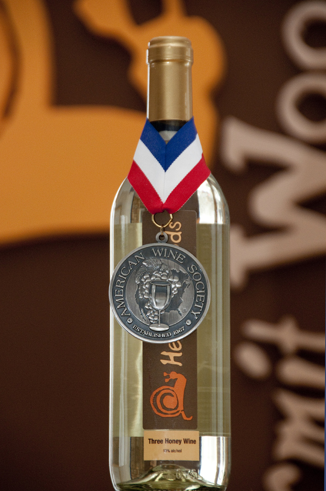 2010 Silver medal winer, Hermit Woods Three Honey Wine