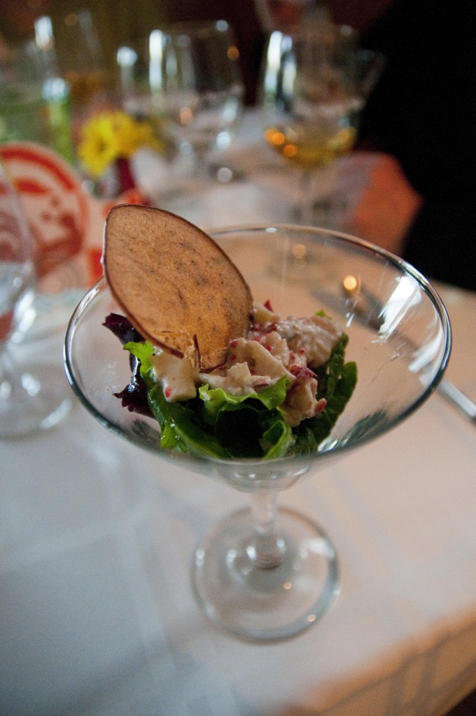 Lobster Cocktail, Apple Chip, Cider Aioli